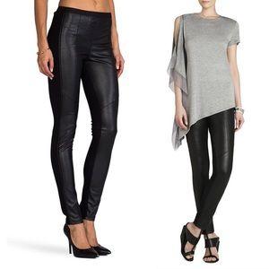 BCBGMAXAZRIA Maddex Pants Faux Leather Leggings Black Women's Size S